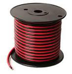 30Ft Black/Red Bonded 16/2-Awg Stranded Hookup Wire 50 Volt
