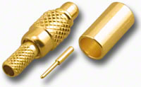 Mini-MCX Plug 3-Piece Crimp-On RG-174/U RG-316/U (Gold)