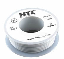 25Ft White 22Awg Stranded Copper Hookup Wire 300 Volt