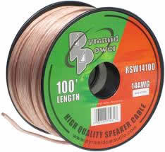100' 14Awg Clear Speaker Wire (2-Conductor)
