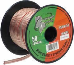 50Ft 16Awg Clear Speaker Wire (2-Conductor)
