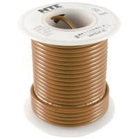 25Ft Brown 16Awg Stranded Copper Hookup Wire 300 Volt