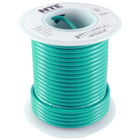 100' Green 22Awg Stranded Copper Hookup Wire 300 Volt