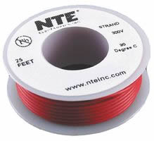 25Ft Red 24Awg Stranded Copper Hookup Wire 300 Volt