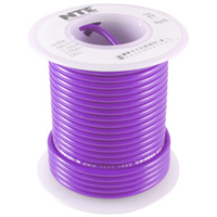 100Ft Violet 24Awg Stranded Copper Hookup Wire 300 Volt