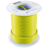 25Ft Yellow 26Awg Stranded Copper Hookup Wire 300 Volt