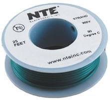 25Ft Green 18Awg Solid Copper Hookup Wire 300 Volt