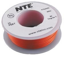 25Ft Orange 22Awg Solid Copper Hookup Wire 300 Volt