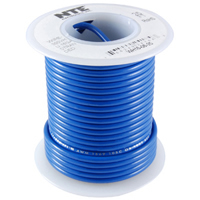 100Ft Blue 22Awg Solid Copper Hookup Wire 300 Volt