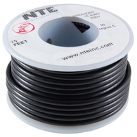 100Ft Black 24Awg Solid Copper Hookup Wire 300 Volt