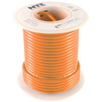 100Ft Orange 24Awg Solid Copper Hookup Wire 300 Volt