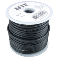 50Ft 18Awg Black Stranded Test Lead Wire 5000V EPDM Rubber