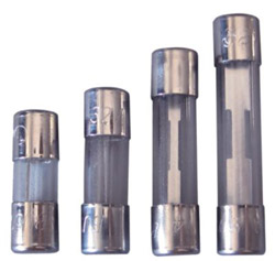 "6 Amp 32V (SFE) Glass Fuse (5Pk) Fast Acting 1/4"" x 3/4"""
